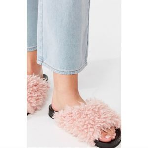 NWT - Urban Outfitters Fur Sandals